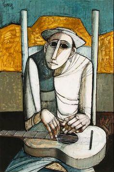 The Guitarist -Lucio Ranucci,Italian- Ro Gallery