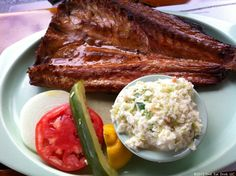Smoked mullet at Ted Peters. Been around for 50 years.