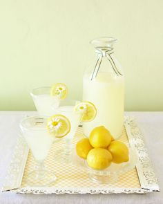 Spiked Lemonade: Traditional lemonade is always a refreshing beverage option, but for a more sophisticated twist, try this recipe for a sparkly spiked version: Simply combine 4c lemonade with 1c seltzer water, 1c vodka and a tbsp of lemon zest and stir. Garnish with a lemon wedge and either a sprig of fresh herbs or a single daisy.