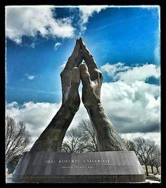 Praying hands Oral Roberts Univ. Tulsa ,oklahoma