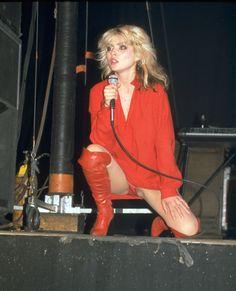 Debbie Harry in red…