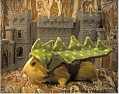 Crazy cute!guinea pig 'dragon' costume.  Www.Etsy.com