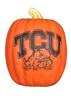 "TCU Horned Frogs 7"" Resin Pumpkin http://www.rallyhouse.com/shop/tcu-horned-frogs-2057036 $24.95"