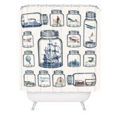 Belle13 Vintage Preservation Shower Curtain | DENY Designs Home Accessories