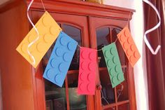 DIY LEGO Party Ideas  #TodaysEveryMom Awesome idea to spray paint old containers for storage!