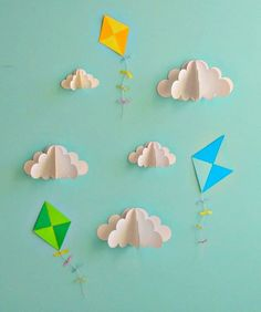 3 D Clouds and Paper Kites
