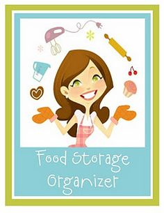 Food Storage Organizer Binder with printables.