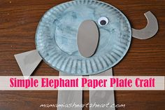 Simple Elephant Paper Plate Craft