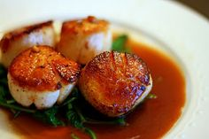 my favorite: Seared Scallops with Lemon and White Wine