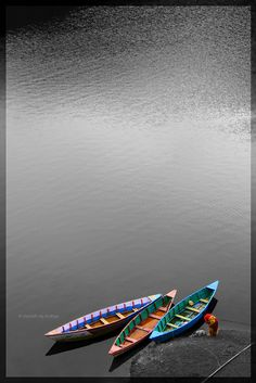 Colorful Boats at Kulekhani