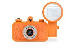 I love orange. Analogue camera from lomography.com