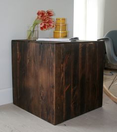 SALE The  Caspar  Nightstand Side Table Plank Style in Rustic Walnut. $189.99, via Etsy.