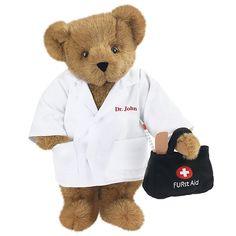 """Graduating from Med School? 15"""" Doctor Bear from Vermont Teddy Bear. $65.99 #Graduation"""