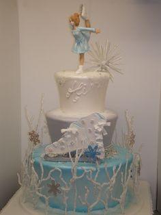 ice skate, cake jessica, cakes, cake design, skate cake, creativ cake, ice skating, figur skate, birthday cake