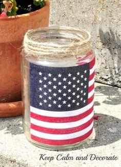 Easy Patriotic Luminaries :: Hometalk