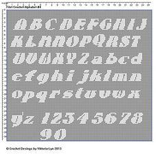 FREE Filet Crochet Alphabet 4
