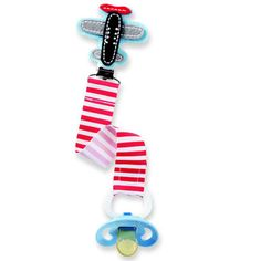 Airplane Pacy Clip pacifiers, pacifi clip, gift, airplanes, paci clip, babi, mud pie, airplan pacifi, pacifier clips