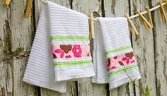 Use terrycloth fingertip towels instead of napkins. Washable, practically indestructible, and available in lots of colors and patterns!
