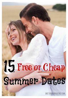 15 Free Or Cheap Summer Dates  Great Summer Ideas for a Cheap or Free Date! #summerdateideas