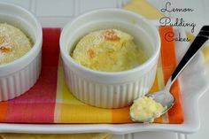 Gluten-Free Lemon Pudding Cakes on www.SimplySugarAndGlutenFree.com