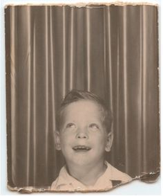 ** Vintage Photo Booth Picture **   Looking up!