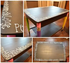 Love this cute table re-do!  So cute and easy!!!