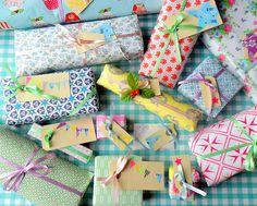 Rie elise Larsen wrap for present, envelopes en DIY projects