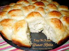 Easy No Knead Yeast Rolls pineappl dream, yeast rolls