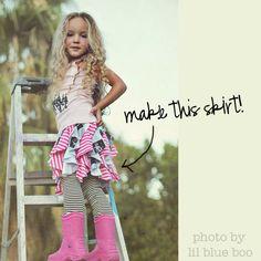 cascading DIY ruffle skirt!
