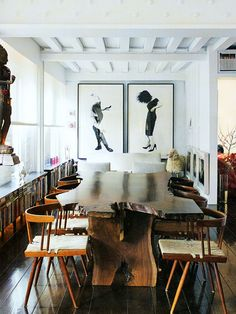 Art, table & chairs. Love!
