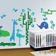 Zoo Wall Decal – Animals Decal – evgiNev