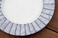 She Learns As She Goes: Whimsical DIY Herringbone Plate