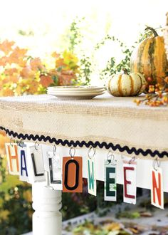 Halloween Banner With License Plates