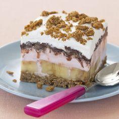 banana split banana, dessert recipes, ice cream recipes, summer desserts, ice cream cakes, the heat, healthy desserts, cake recipes, ice cream desserts