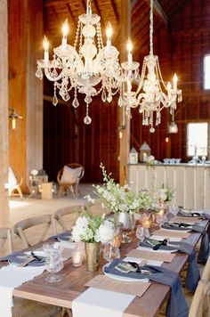 chandeliers are always a good choice Photography By / http://elisabethmillay.com,Event Planning By / http://lhevents.com