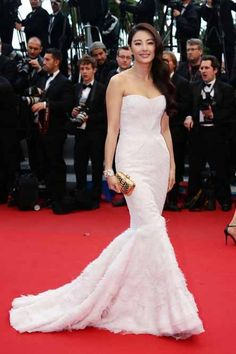 The 66th Cannes Film Festival 2013 Red Carpet, Zhang Yuqi in Roberto Cavalli