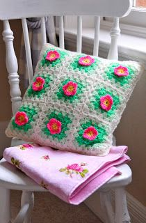 cushion with flowers