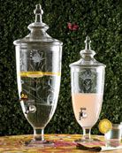Drink dispensers instead of punch bowls