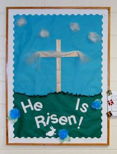 He Is Risen! Sunday School Bulletin Board