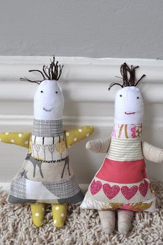 adorable dolls! patchwork babies