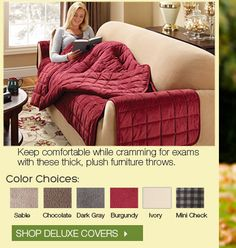 Back to School: Cozy Furniture Cover For Fall - Winter | Sure Fit Slipcovers