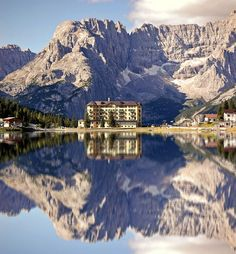 Belluno, Italy - on the fringe of the Dolomite  mountains...