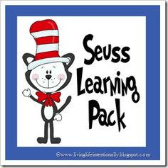 {FREE} 30 pages of Dr. Seuss Learning Fun for ages 3-7! Perfect for celebrating Dr. Seuss' birthday March 2nd.