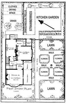 Victorian cottage garden plan