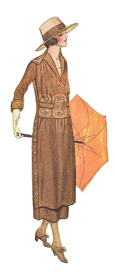 7-11-11  Fashion 1917.  Brown suit.  Very stylish.