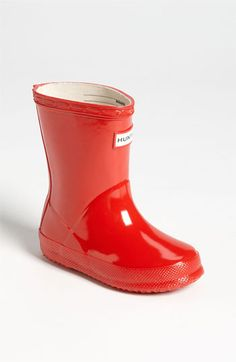 Hunter 'Kid's First Gloss' Rain Boot
