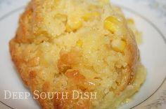 corn bread pudding, yum!