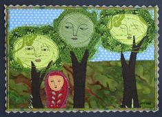 Mimi Kirchner's fabric postcard
