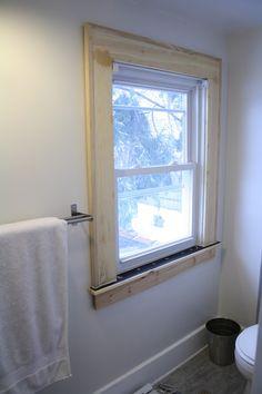 to do = window trim to living area windows