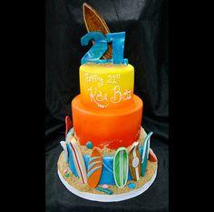 surfboards- baby shower cake idea?